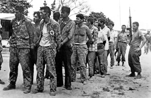 Captured members of the CIA's Bay of Pigs Cuban Brigade