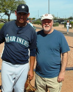 Chris with Jose...young minor league pitcher from Nicauragua