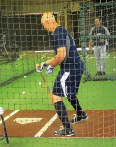 Raul Ibanez in the cage