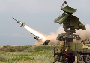 Soviet Surface to Air Missile (SAM) in action
