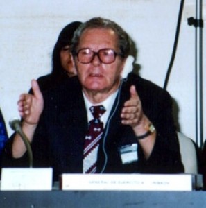 Anatoly Gribkov at the Havana Conference, 1992