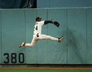 Griffey was fearless in his outfield play