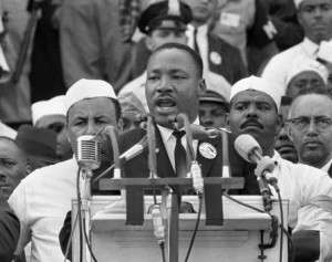 "Martin Luther King delivering ""I Have A Dream"" speech"