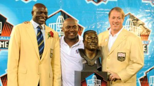 Buffalo Bills Hall of Famers, L-R Bruce Smith, Thurman Thomas and Jim Kelly