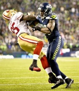 Kam Chancellor hit on Vernon Davis