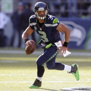 "Russell Wilson: ""In the moment""."