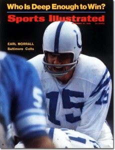 Earl Morrall on the cover of Sports Illustrated during the 68 season