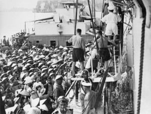 OP Exodus: Catholic refugees from North Vietnam being transferred South