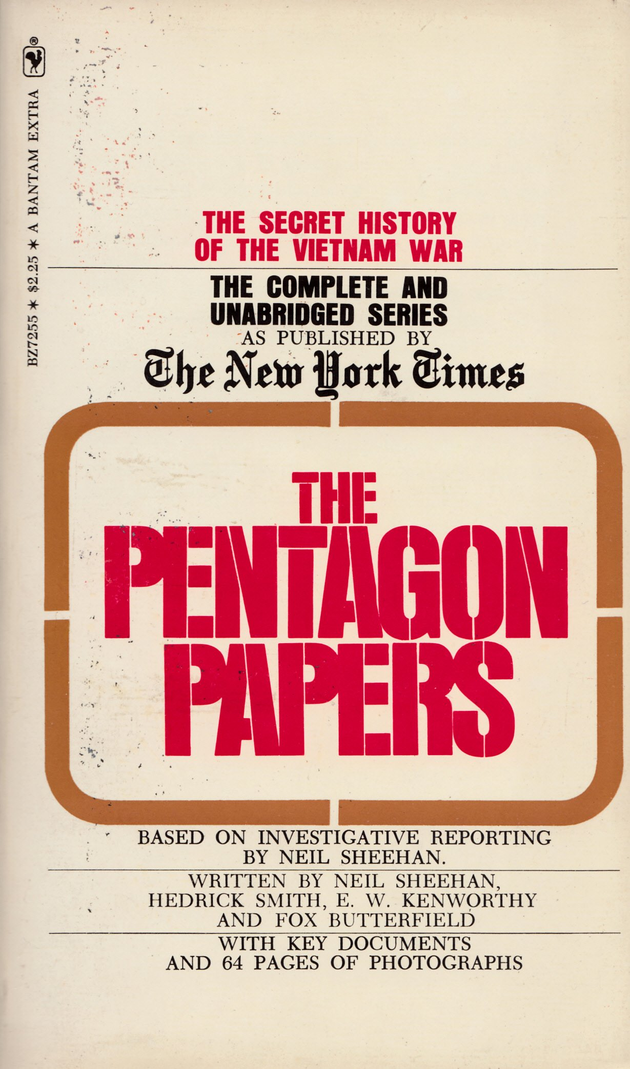 pentagon paper Directed by rod holcomb with james spader, claire forlani, paul giamatti, alan arkin defense worker daniel ellsberg seeks to publish a series of classified.