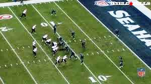 """A good image of the Seahawks (in grey) """"Cover 3"""" defense. Note Earl Thomas as the single safety and Sherman and Maxwell in their outside thirds"""