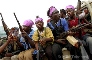 Child soldiers of the Liberian Civil War