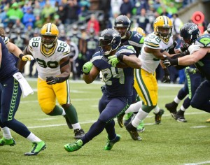Marshawn Lynch gashed the Packers with runs