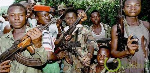 Young RUF soldiers in Sierra Leone