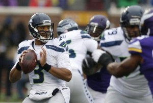 Russell Wilson: a clean pocket to throw from
