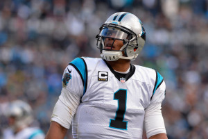 Cam Newton and the Panthers had their way with the Seahawks in the first half