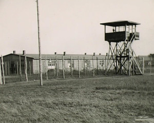 photo of the barracks and tower of Stalag Luft I