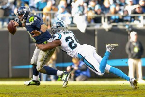 Russell Wilson being sacked by Josh Norman in key 2nd half play