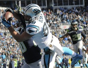 Greg Olsen's diving TD catch in the 2nd qtr put Panthers up 31-0