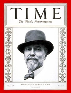 Norman Montagu on the cover of Time magazine