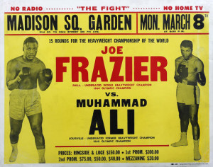 Poster for the first Ali-Frazier fight