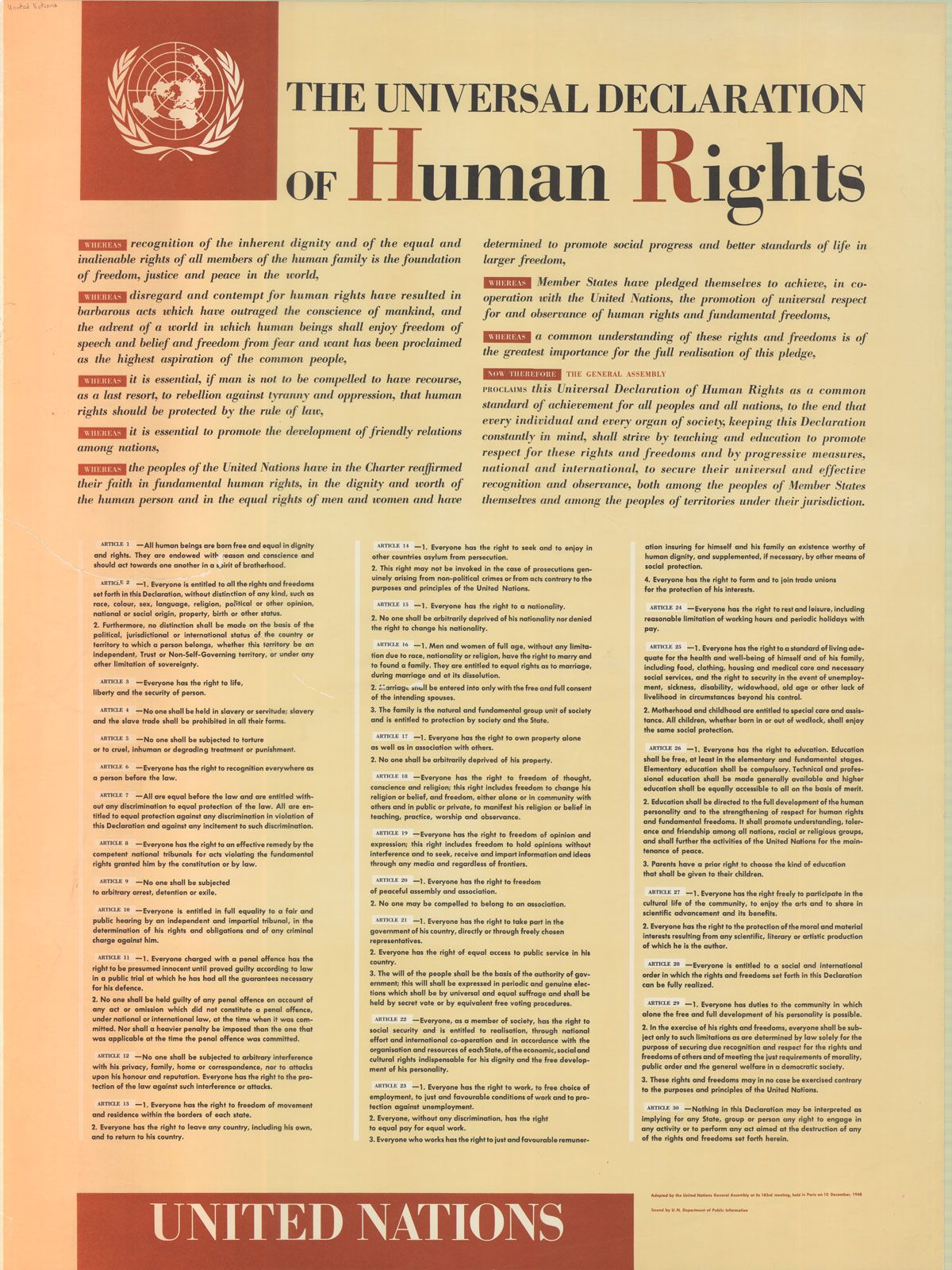 the united nations and human rights essay The importance of human rights today  the importance of human rights today the highest aspiration of the common man is to lead a life where he can enjoy freedom of speech, freedom of belief and have no fear of suppression.
